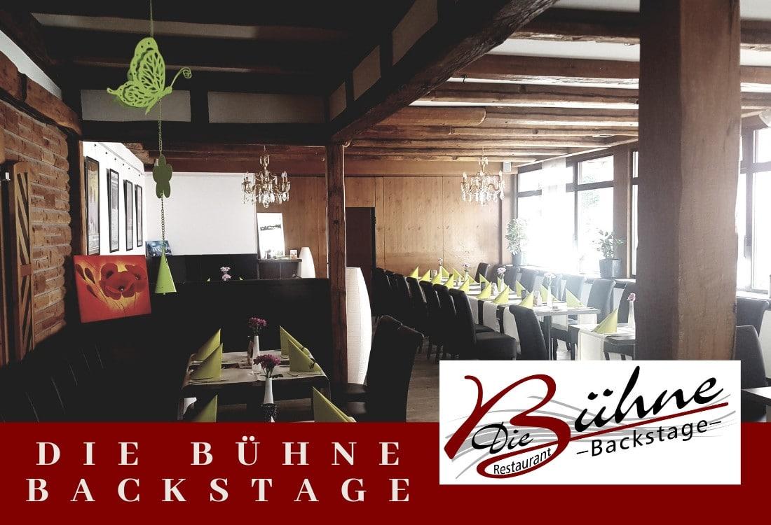 Gestaltete Internetseite des Restaurants Die Bühne Backstage durch M-Online-Solutions